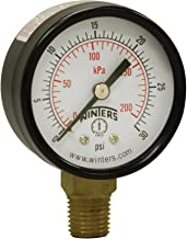 Winters PEM Series Steel Dual Scale Economical All Purpose Pressure Gauge with Brass..