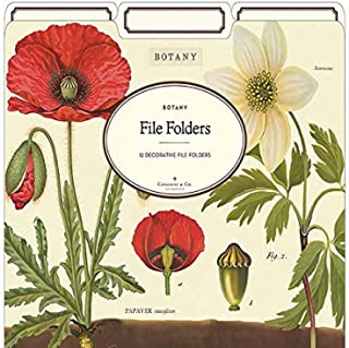 Cavallini Papers & Co. Botany Heavyweight File Folders (Set of 12)