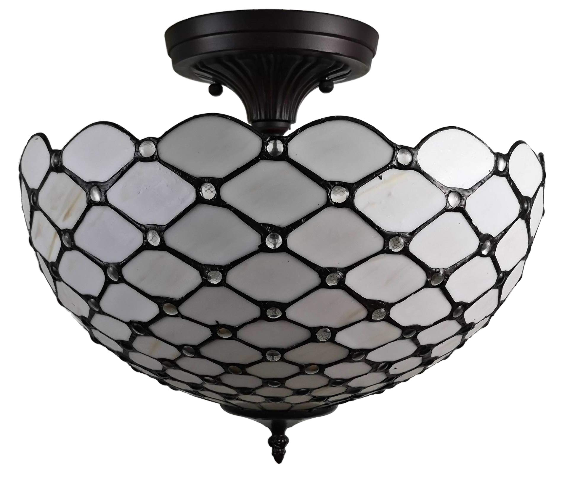 Modern Ceiling Light Fixture for Dining Room Kitchen Bedroom with Satin Etched Cased Opal Glass Shade CO-Z 3-Light Semi Flush Mount Nickel Finish Mini Chandelier