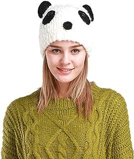JcxHat Women Cartoon Animal Panda Crochet Warm Winter Knit Hat Beanie Skully Cap