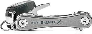 KeySmart Rugged - Multi-Tool Key Holder with Bottle Opener and Pocket Clip (Up to 14 Keys, Titanium)