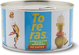 comprar comparacion Banderillas Toreras picantes aliñadas con anchoa natural y aceite de oliva. Pack 2: Banderillas de aceituna, cebolla, pepi...