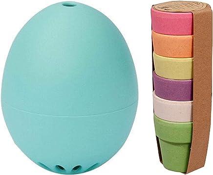 Preisvergleich für Brainstream Das Gute Laune Oster Set PiepEi Gute Laune Türkis + Zuperzozial Eierbecher 6er Set Rainbow