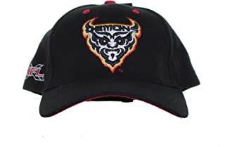 XFL - San Francisco Demons - Vintage Team Logo and XFL Logo on Black Adjustable Hat