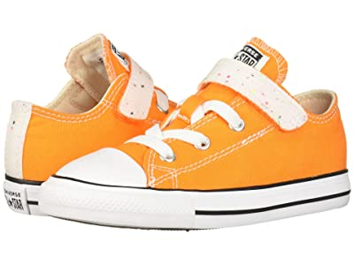 Converse Kids Chuck Taylor All-Star 1V Galaxy Dust Ox (Infant/Toddler) (Orange Rind/Natural Ivory/White) Girls Shoes