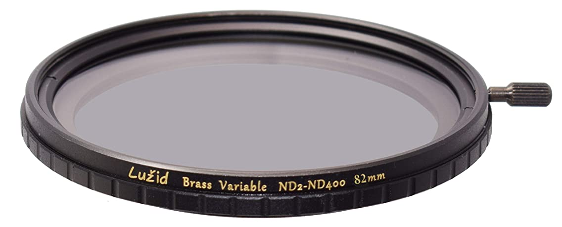 LU?ID 82mm Vari ND ND2-ND400 MC Filter Schott B270 Glass Brass Frame Multi-Coated 1 Stop to 8.5 Stops Anti-Vignetting 82 Luzid