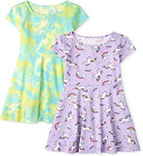فستان للفتيات من ذا كيدز بليس مطبوع عليه متزلج فستان من قطعتين