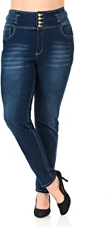 Pasion Women's Jeans - Plus Size - High Waist - Push Up - Style N606