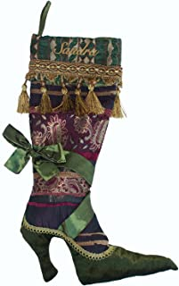Transpac Personalized Victorian Shoe Christmas Stocking