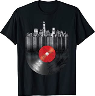 New York City Skyline Vinyl Record NYC T-Shirt & Design