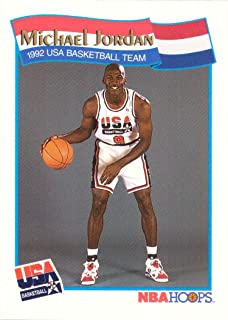 9e26d7305d8938 1991-92 NBA Hoops  55 Michael Jordan Team USA Olympic Basketball Card