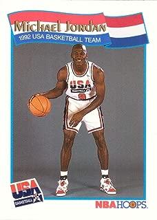 1991-92 NBA Hoops #55 Michael Jordan Team USA Olympic Basketball Card