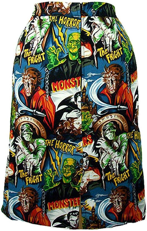 Hemet Women's Horror Movie Hollywood Monsters Pencil Skirt