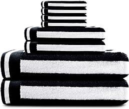 مجموعة مناشف من كاوفو، مناشف حمام قطنية عالية الامتصاص مع شريط، ومنشفتي حمام، و2 مناشف لليد، و4 مناشف للوجه، مثالية للاستخ...