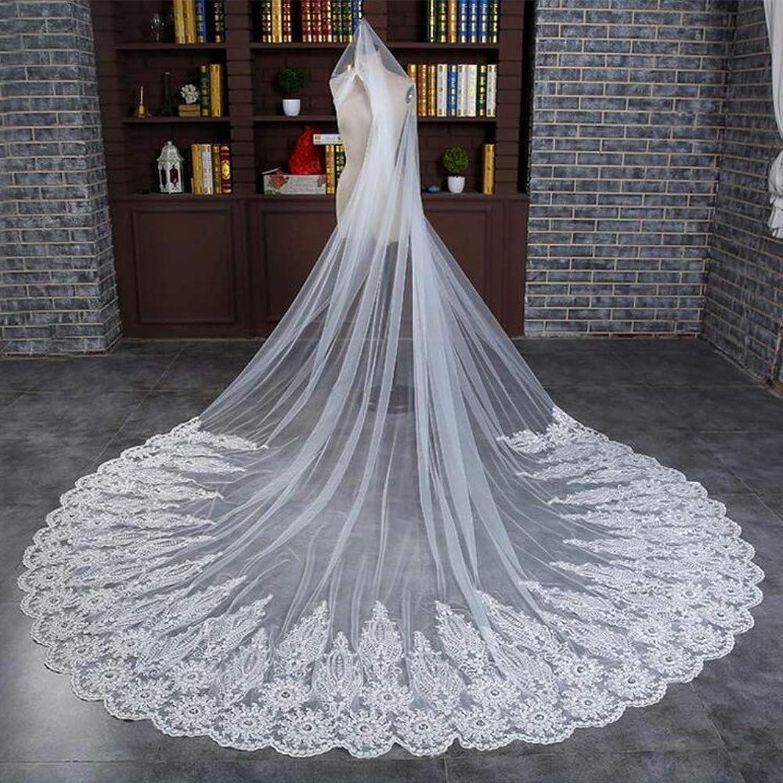 Bridal Veil 3 m Long Trailing lace Wedding Veil Hair Accessories