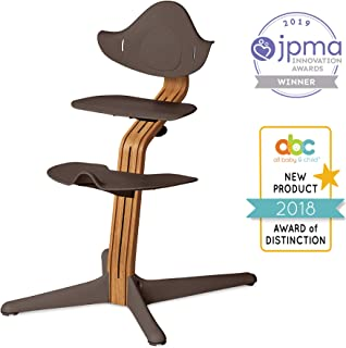 Nomi Chair, Coffee – Premium Natural Oak Wood, Toddler through Teenager and Beyond with Seamless Adjustability, Better than a Dining Booster Seat, Cure for Fidgeting, Modern Design, Strong Wooden Stem
