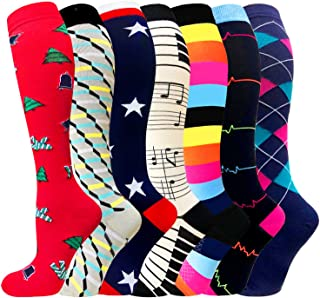 1/3/6/7 Pairs Compression Socks for Women&Men...