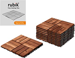 Rubik Acacia Wood Floor Decking and Patio Interlocking Tile Flooring Pavers Composite Decking For Indoor and Outdoor - Pac...