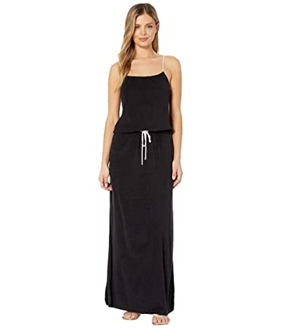 Polo Ralph Lauren Terry Maxi Rope Dress Cover-Up (Black) Women