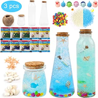 SUPERLELE Mini Glass Bottles in 3 Shapes for Making Marine Series Decorations