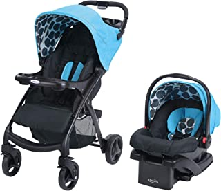 Graco Verb Click Connect Travel System, with Snugride Click Connect 30 Infant Lightweight Stroller Comfortable Car Seat, Motif