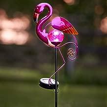 GloBrite Metal Solar Flamingo Bird Garden Stake Light - Garden Novelty Animal Decoration Ornament