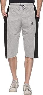 VIMAL JONNEY Dark Gray Cotton Blended Capri for Men-C7-01-P