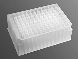 CORNING P-DW-20-C-S Axygen Polypropylene 96 Well Clear Round Bottom Deep Well Plate, Sterile, 2 mL Well Volume (Pack of 5)