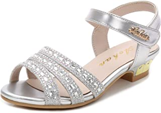 Walofou Little Big Girls Party Wedding Princess Dress Platform Sandals