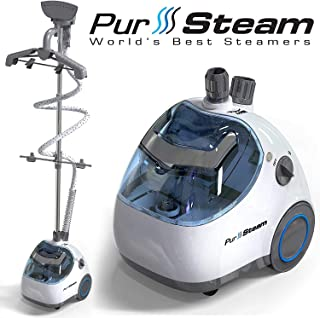 PurSteam Elite Garment Steamer, Heavy Duty Powerful Fabric Steamer with Fabric Brush and Garment Hanger