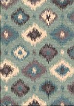 Transitional Area Rug. Gray, Black, Teal 7'10