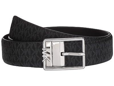 MICHAEL Michael Kors 35 mm Reversible Logo Belt (Black) Women