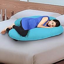 Novo 3Kg Pp Cotton Comfort Pregnancy & Maternity Pillow, Blue - 145X90X25Cm,
