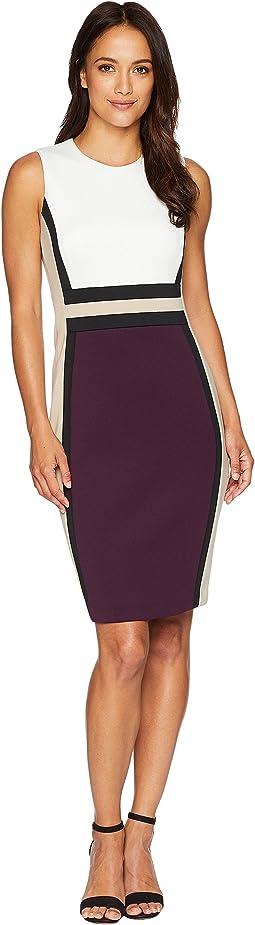Color Block Scuba Sheath Dress CD8M1V5K