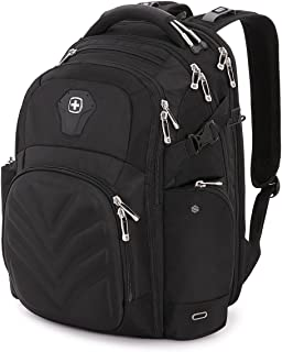 SWISSGEAR 5709 ScanSmart Laptop Backpack | Fits Most 15 Inch Laptops and Tablets | TSA Friendly Backpack | Ideal for Work, Travel, School, College, School, and Commuting- Black
