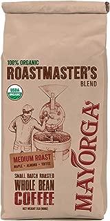 Mayorga Organics, Whole Bean, 100% Organic, Medium Roast, Roastmaster's Blend 2lb