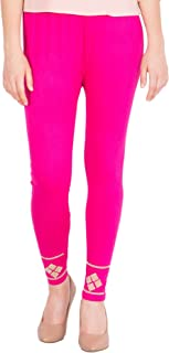 American-Elm Women's Stylish Ankle length Legging- Rani Pink