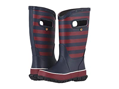 Bogs Kids Rain Boots Rugby (Toddler/Little Kid/Big Kid) (Burgundy Multi) Boys Shoes