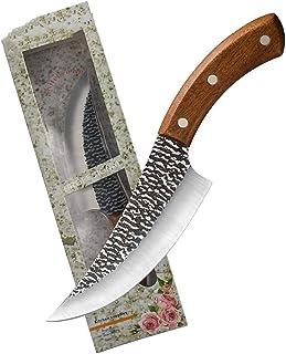 Couteau à désosser Survie Camping sauvage Couteau de chasse en plein air Couteau de chef 5 pouces 6 pouces 7 pouces Trois ...