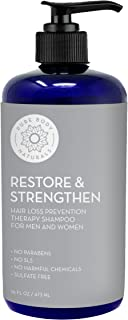 Hair Loss Shampoo to Restore and Strengthen, Large 16 Ounce, DHT Blocker Shampoo for Thinning Hair, for Men and Women by Pure Body Naturals (Label Varies)