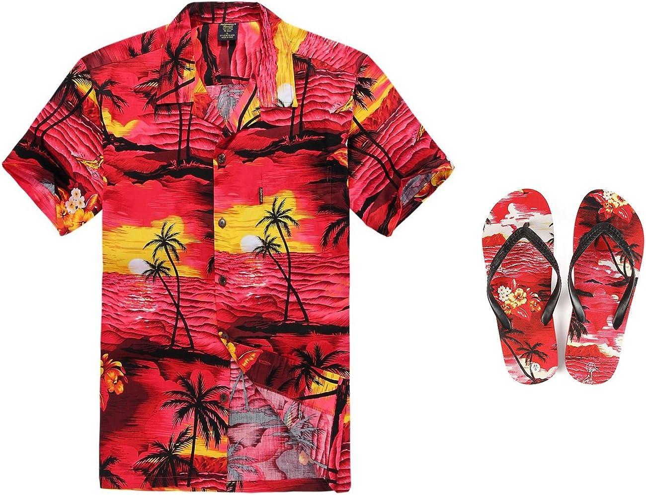Hombres Que Coinciden con Hawaiian Luau Outfit Aloha Plus ...