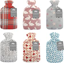 CityComfort Natural rubber British design Hot water bottle with soft fleece cover 2 litre