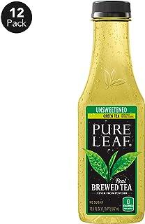 Pure Leaf, Iced Tea, 0 Calories Unsweetened Green Tea, Real Brewed Tea, 18.5 Fl Oz...