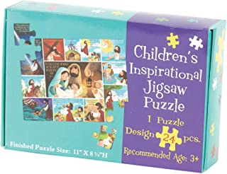 Life of Jesus Inspirational 11 x 8 Cardboard Inspirational Childrens Puzzle 24 Pieces
