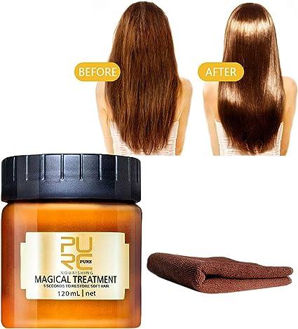 Hair Detoxifying Hair Mask Towel Purc Magical Keratin Hair Treatment Mask 5 Seconds Repairs Damage Hair Root Hair Tonic Keratin Hair Scalp Treatment 120ml Amazon Ca Toys Games