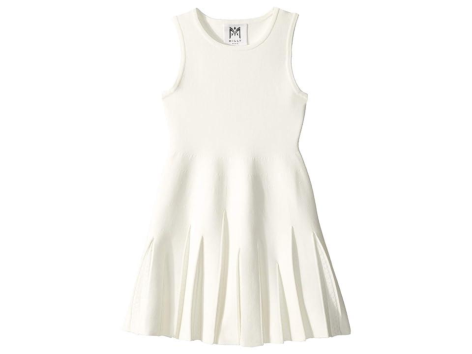 Milly Minis Pointelle Godet Flare Dress (Toddler/Little Kids) (White) Girl