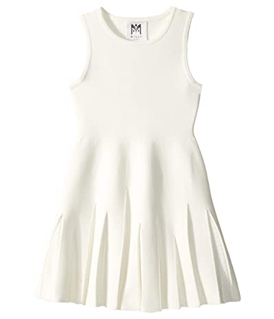 Milly Minis Pointelle Godet Flare Dress (Toddler/Little Kids) (White) Girl