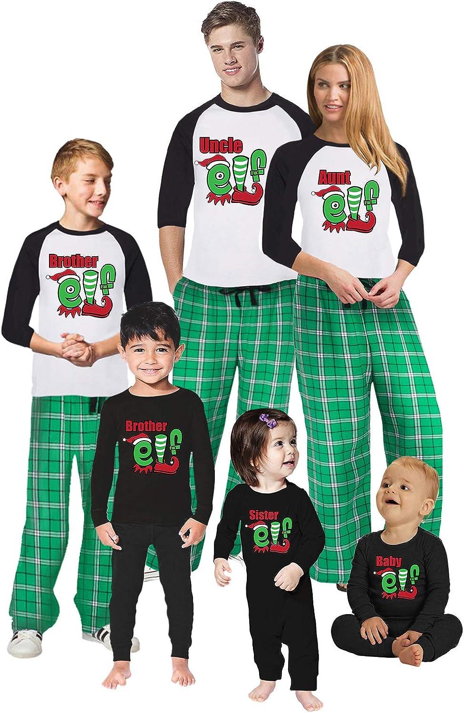 Awkward Styles Christmas Pajamas for Family Uncle Aunt Elf Matching Christmas Sleepwear Men PJ Set Style 6 S