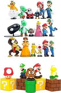28 Set Super Mario Brothers Super Mary Princess, Turtle, Mushroom, Orangutan , Super Mario Action Figures, 2
