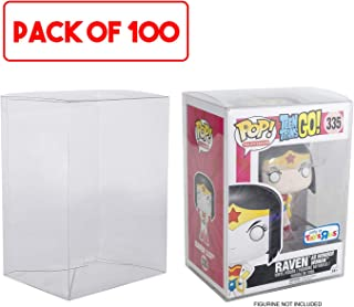 Mario Retro Exclusive Funko Pop 4 inches Protectors (Clear Plastic) - Acid-free Case Display - 100 Scratch Resistant Boxes Compatible for Marvel, Disney, Disney, Harry Potter, Star Wars Pops
